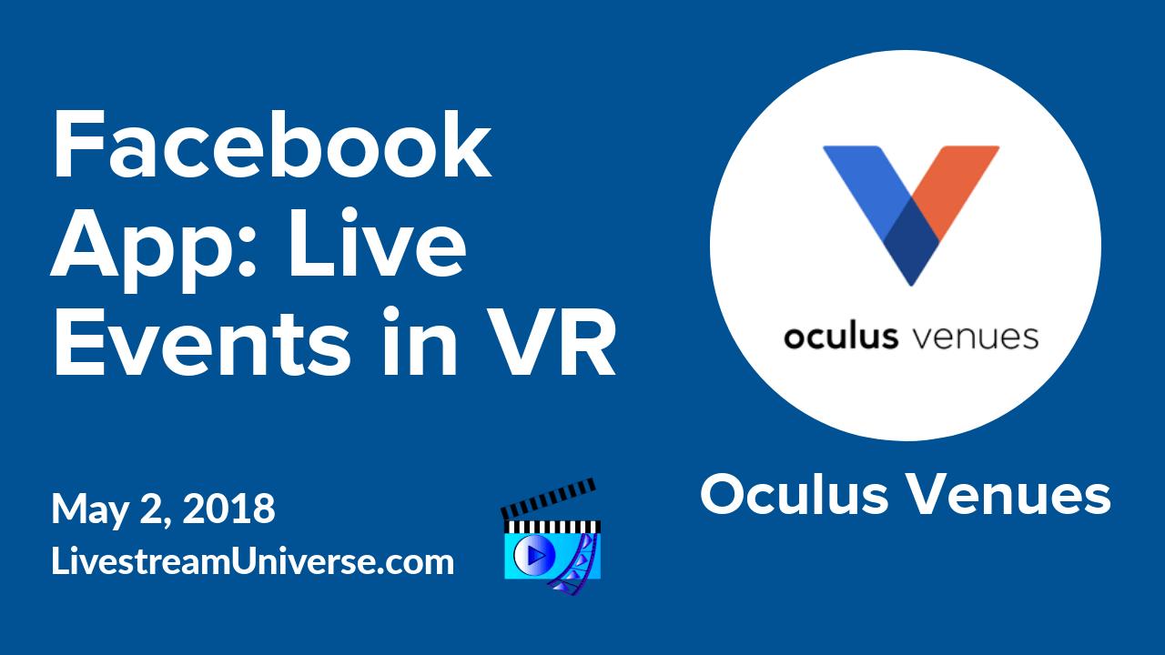facebook app oculus venues vr live