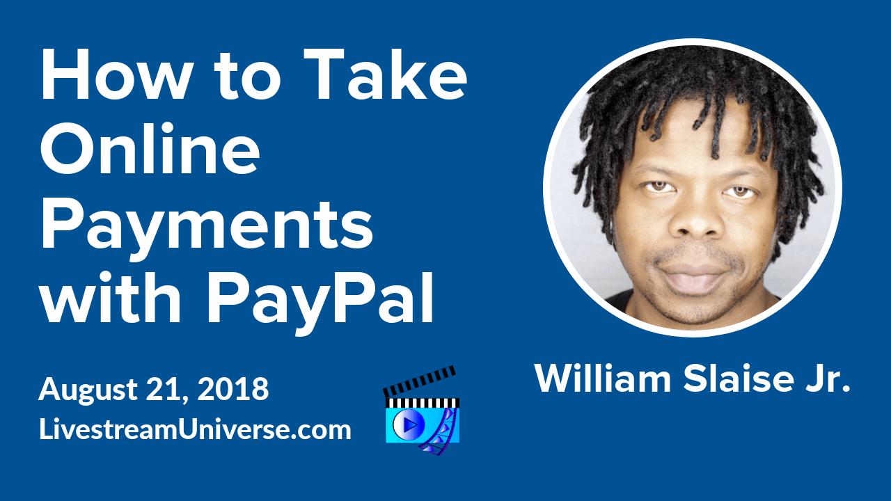 PayPal William Slaise Jr