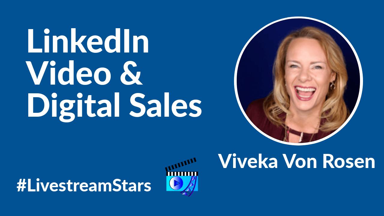 Viveka Von Rosen LinkedIn Livestream Universe Stars