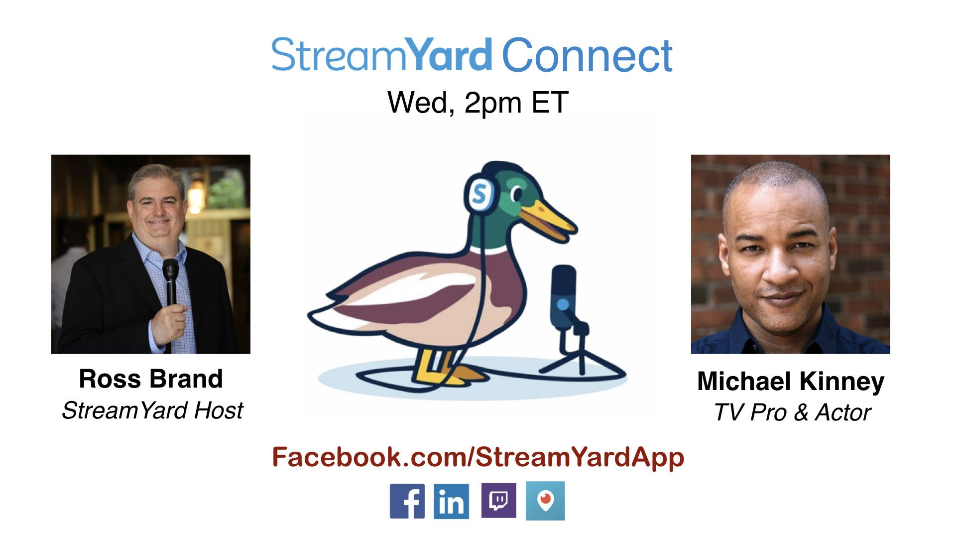 streamyard connect with ross brand ep19 Michael Kinney how to
