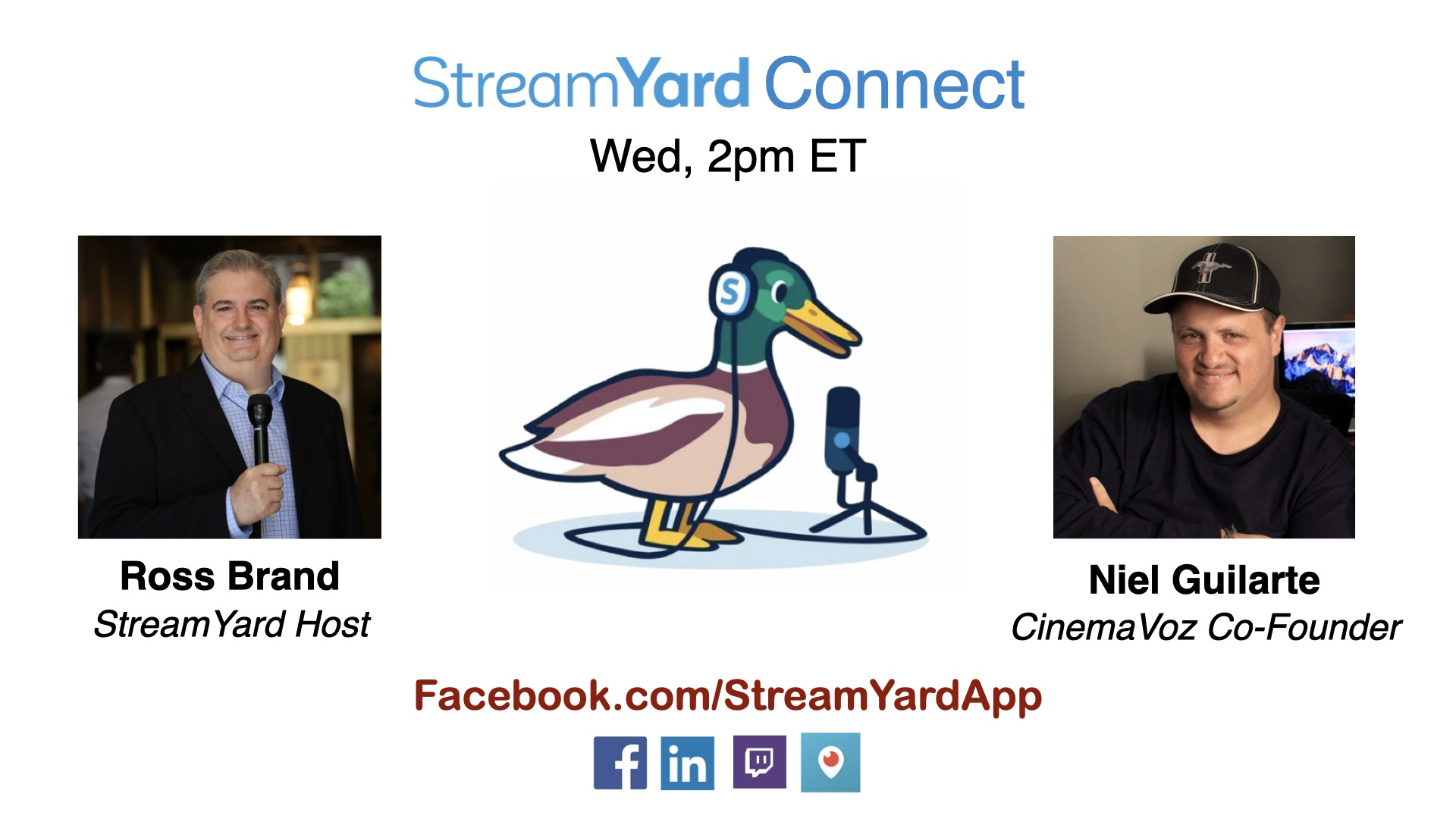 streamyard connect with ross brand ep21 niel guilarte cinema voz