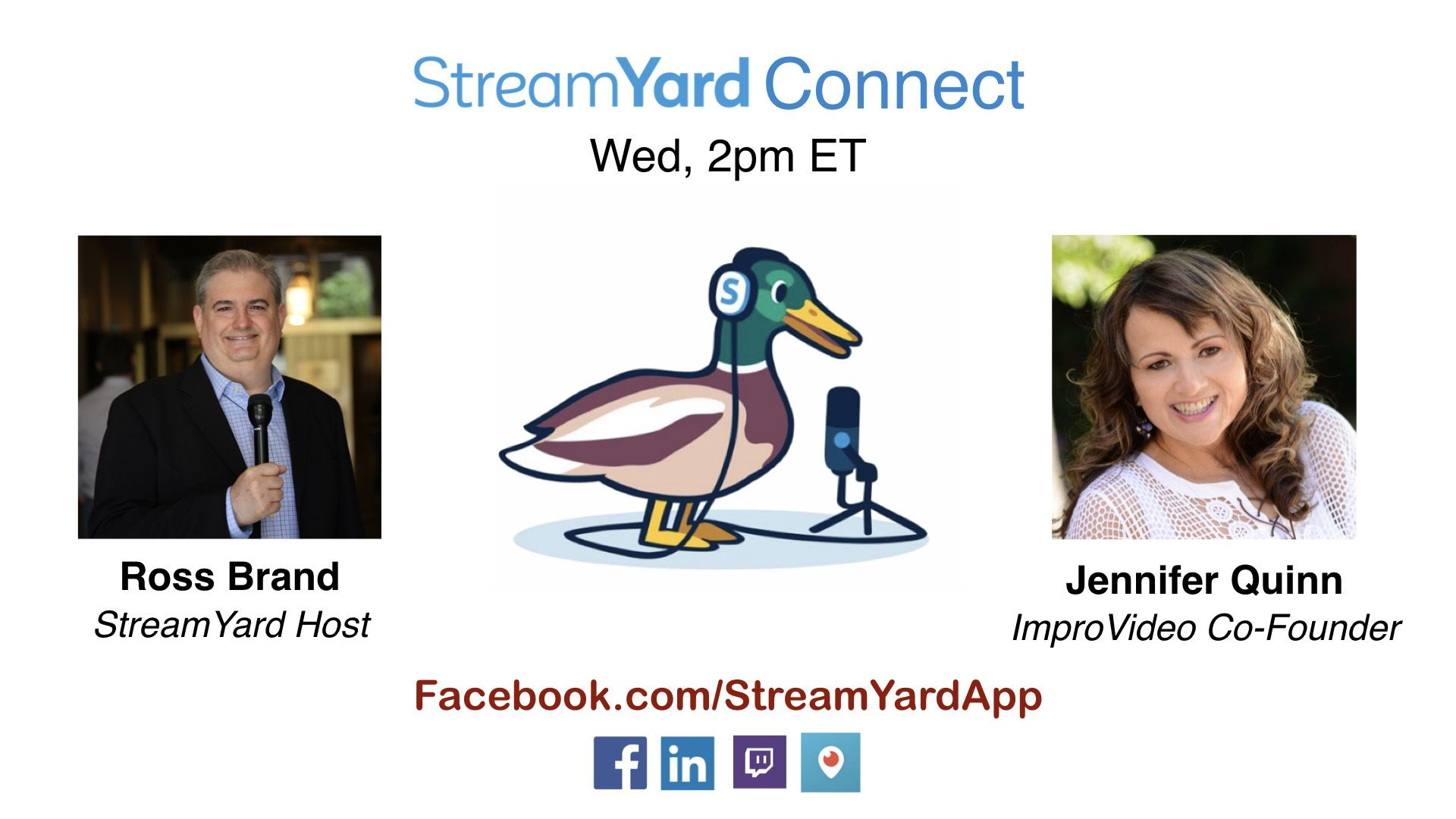 streamyard connect with ross brand ep22 jennifer quinn jennyq