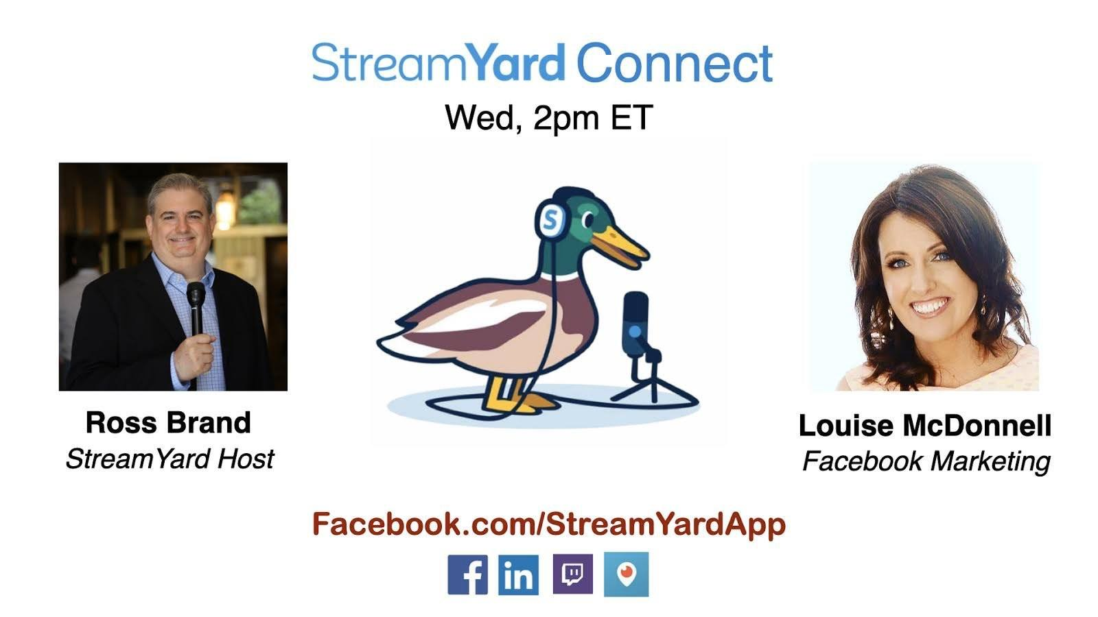 streamyard connect with ross brand ep24 louise mcdonnell facebook marketing