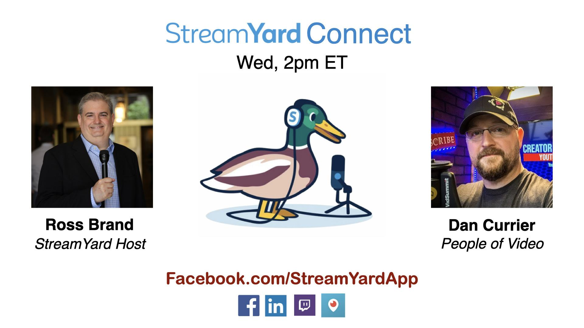 streamyard connect with ross brand ep25 dan currier people of video