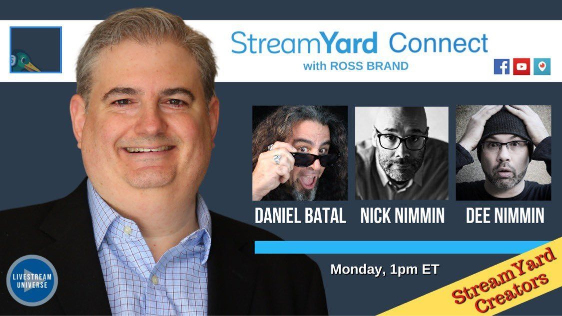 ross brand nick nimmin dee nimmin daniel batal streamyard connect