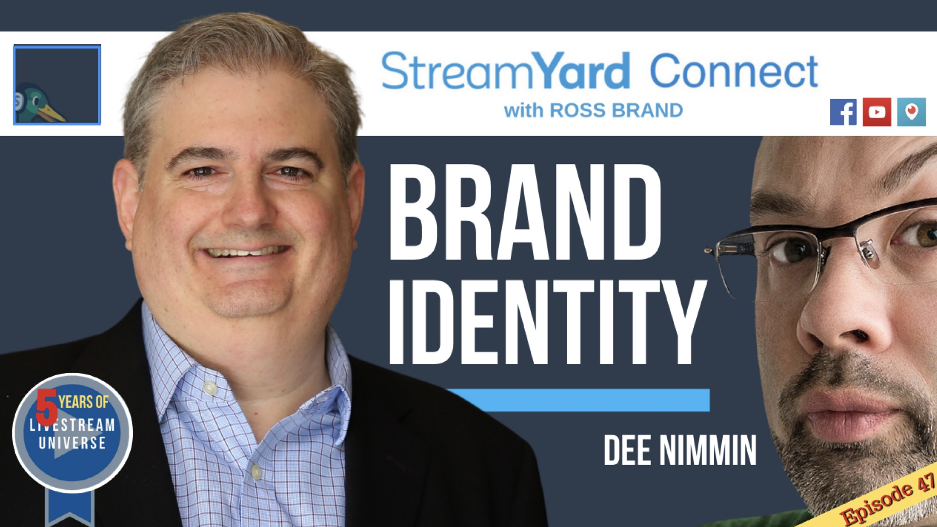 StreamYard Connect Ross Brand Dee Nimmin