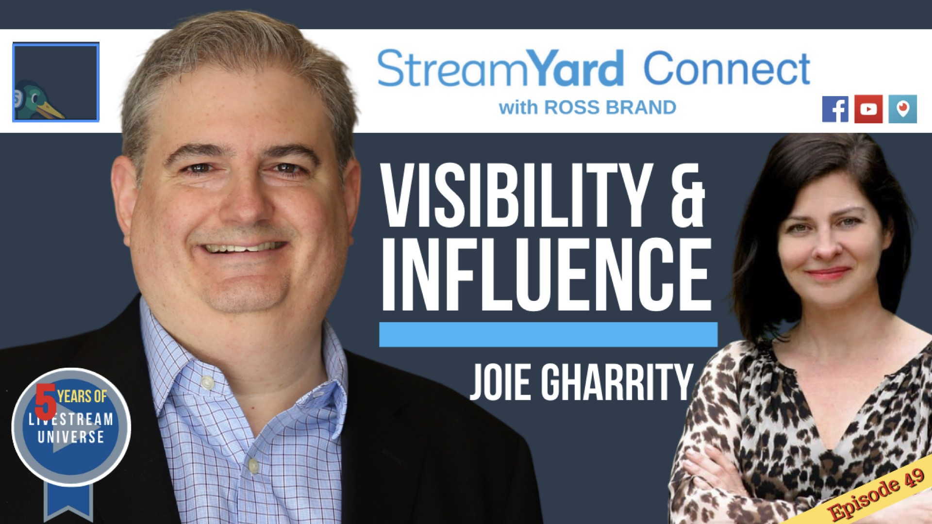 StreamYard Connect Ross Brand Joie Gharrity