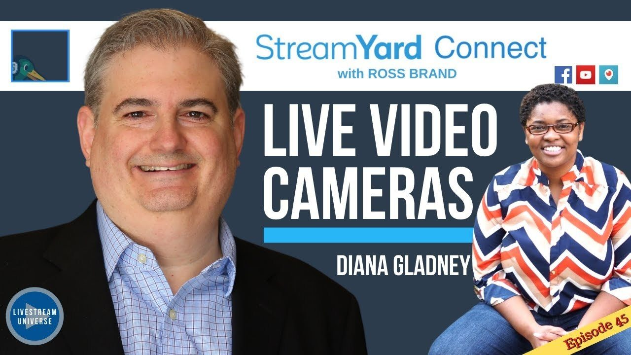 Diana Gladney StreamYard Connect with Ross Brand Ep45