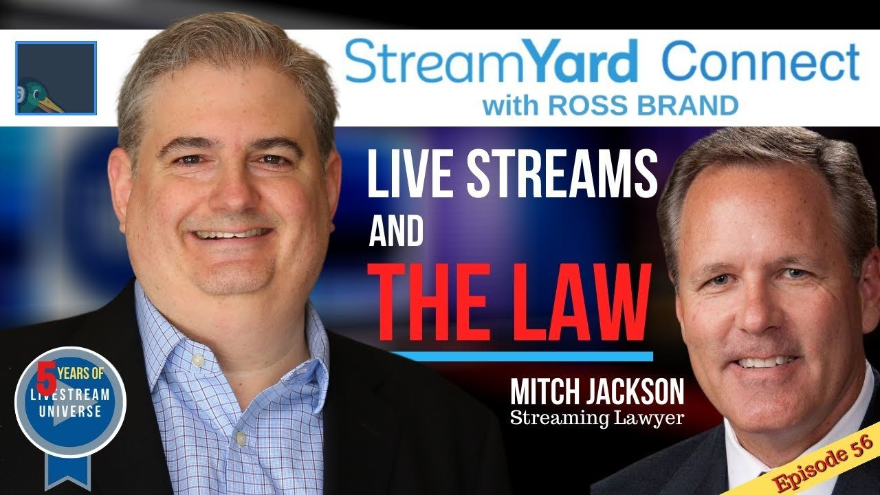 Mitch Jackson law Streamyard Connect with Ross Brand