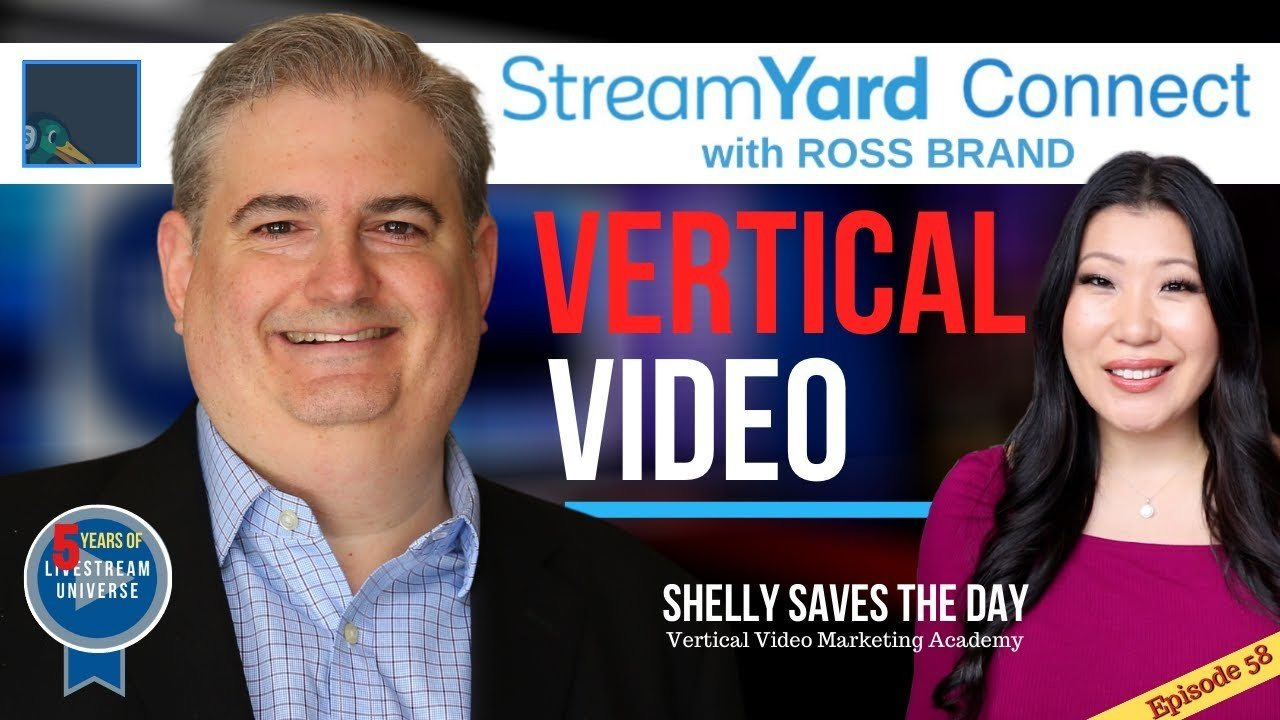 StreamYard Connect with Ross Brand Ep58 Shelly Saves the Day vertical video