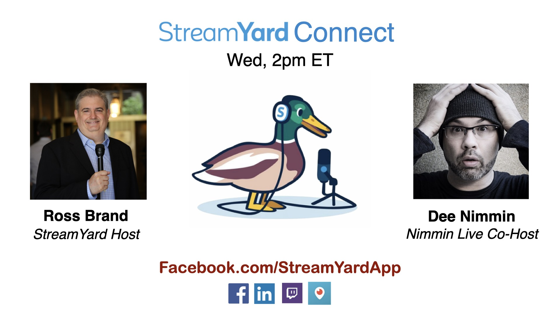 streamyard connect with ross brand ep26 dee nimmin youtube mobile